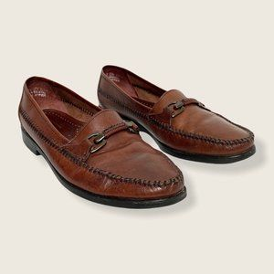 GH Bass Brown Leather Loafers